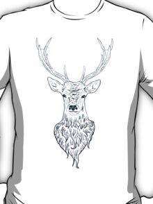 Head of a deer in hand drawn style 3 T-Shirt