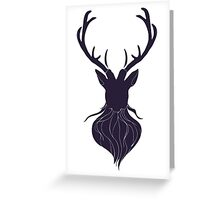 Head of a deer in hand drawn style 5 Greeting Card