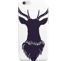 Head of a deer in hand drawn style 6 iPhone Case/Skin