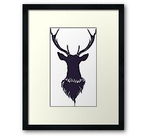 Head of a deer in hand drawn style 6 Framed Print