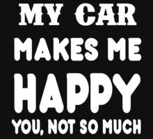 My Car Makes Me Happy You, Not So Much by rbkrishna