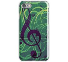 Music floral background iPhone Case/Skin