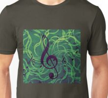 Music floral background Unisex T-Shirt