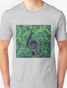 Music floral background T-Shirt