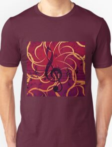Music floral background 2 T-Shirt