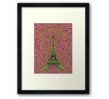 Eiffel Tower Drawing Meditation Framed Print