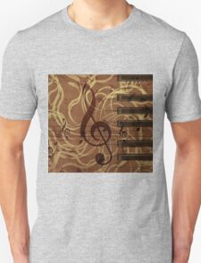Music floral background 4 T-Shirt