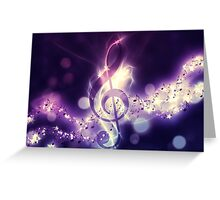 Glowing music background Greeting Card