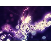 Glowing music background Photographic Print