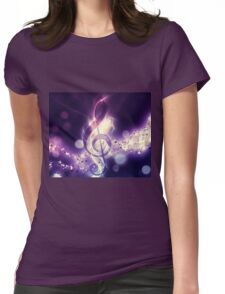 Glowing music background Womens Fitted T-Shirt