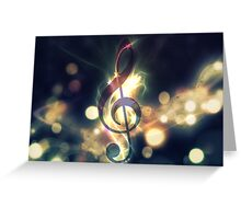 Glowing music background 2 Greeting Card