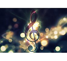 Glowing music background 2 Photographic Print