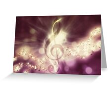 Glowing music background 3 Greeting Card