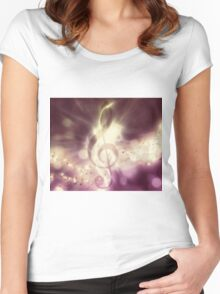 Glowing music background 3 Women's Fitted Scoop T-Shirt