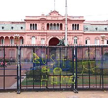 La Casa Rosada greeting  by David Roberts