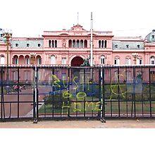 La Casa Rosada greeting  Photographic Print
