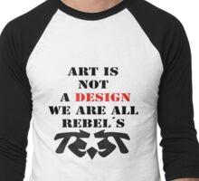 Royal Rebels ART is NOT by Jin Men's Baseball ¾ T-Shirt