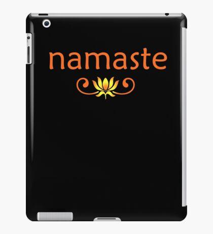 Orange Namaste iPad Case/Skin