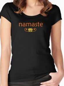 Orange Namaste Women's Fitted Scoop T-Shirt