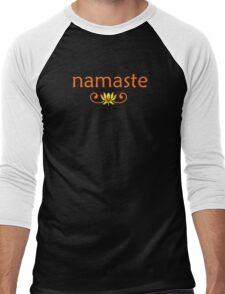 Orange Namaste Men's Baseball ¾ T-Shirt