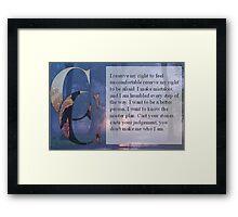 ADTR Quote Framed Print