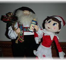 Elf and Santa by Heidemarie
