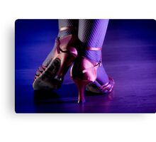 Feet woman dancing Canvas Print