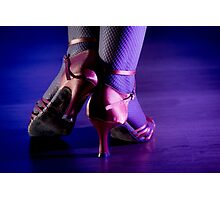 Feet woman dancing Photographic Print