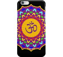 7th Chakra Mandala Yoga Om iPhone Case/Skin