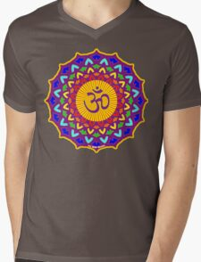 7th Chakra Mandala Yoga Om Mens V-Neck T-Shirt