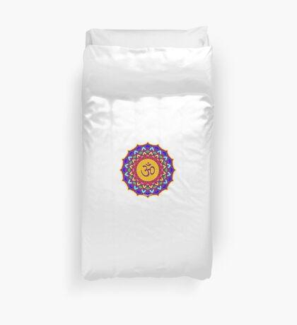 7th Chakra Mandala Yoga Om Duvet Cover
