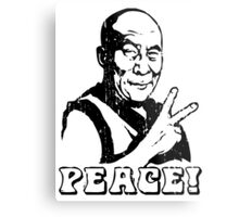 Dalai Lama Peace Sign T-Shirt Metal Print