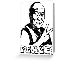 Dalai Lama Peace Sign T-Shirt Greeting Card