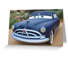 Disney Cars Pixar Cars Hudson Hornet DOC Paul Newman Greeting Card