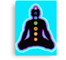 Chakras Meditation Canvas Print