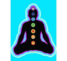 Chakras Meditation Photographic Print