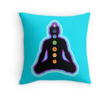 Chakras Meditation Throw Pillow