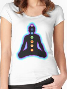 Chakras Meditation Women's Fitted Scoop T-Shirt