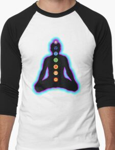 Chakras Meditation Men's Baseball ¾ T-Shirt