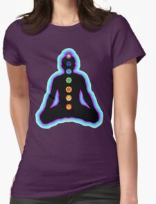 Chakras Meditation Womens Fitted T-Shirt