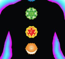 Chakras Meditation Sticker