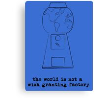 Not a Wish Granting Factory -blues Canvas Print