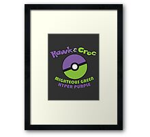 Mighteous Green & Hyper Purple Framed Print
