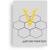 Civ V - One more Turn (light) Canvas Print