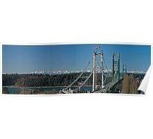 Tacoma Narrows & the Olympics Poster