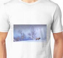 bull elk heading down valley Unisex T-Shirt