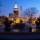 Evening Capture J.C. Nichols Fountain by Jelderkc