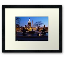 Evening Capture J.C. Nichols Fountain Framed Print
