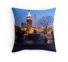 Evening Capture J.C. Nichols Fountain Throw Pillow