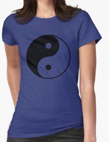Yin Yang Symbol Womens Fitted T-Shirt
